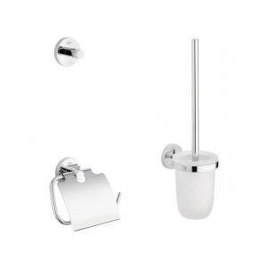 Set de baie (perie WC cu suport+suport hartie igienica+cuier) - Grohe Essentials